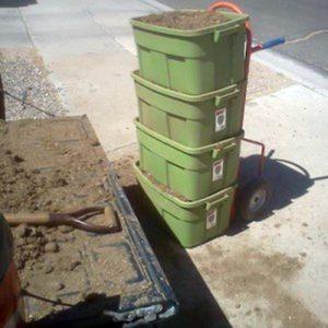 Wheelbarrow alternative- Hand Truck and Containers