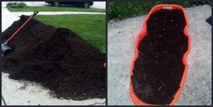 carrying dirt with Heavy Duty Sleds