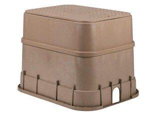 Sand color Valve box extension on valve box
