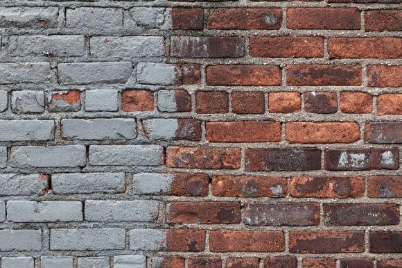 paint on the brick